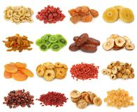 Dried fruits collectio Royalty Free Stock Photo