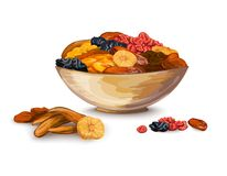 Dried Fruits Composition Stock Photography