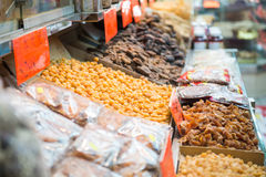 Dried fruits for cooking in store Royalty Free Stock Photography