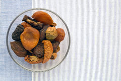 Dried fruits cup Stock Photography