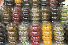 Dried fruits and Food product and gift souvenir at local shop royalty free stock photo