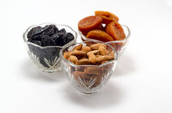 Dried fruits. Dried fruit is very healthy and nutritious foods Royalty Free Stock Photos