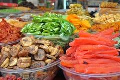 Dried fruits. Ha-Carmel market,Tel-Aviv,Israel Royalty Free Stock Images