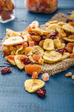 Dried fruits, healthy and delicious Stock Photo