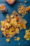 Dried fruits, healthy and delicious Royalty Free Stock Images