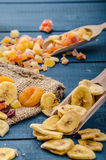 Dried fruits, healthy and delicious Royalty Free Stock Photo