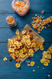 Dried fruits, healthy and delicious Stock Images