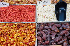 Dried fruits for healthy snack Stock Images