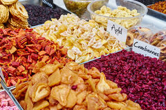Dried fruits for healthy snack Stock Photography