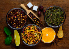 Dried Fruits and Herbs Royalty Free Stock Photography