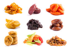 Dried Fruits Isolated Royalty Free Stock Photos