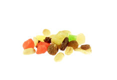 Dried fruits isolated Royalty Free Stock Photography