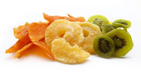Dried fruits. Dried fruits isolated on white background Stock Images