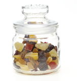 Dried fruits in a jar Royalty Free Stock Photos