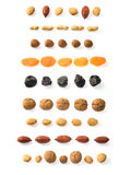 Dried fruits lines Stock Photo