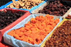 Dried fruits at market Royalty Free Stock Image