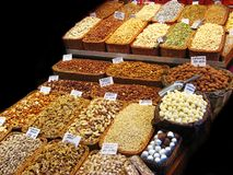 Dried fruits at the market Stock Photo