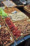 Dried fruits in the market Royalty Free Stock Images