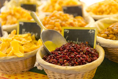 Dried fruits market Stock Photography