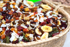 Dried Fruits On The Market Stock Photo