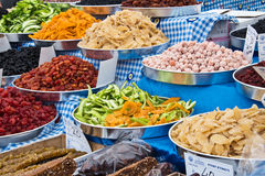 Dried fruits at the market Royalty Free Stock Image