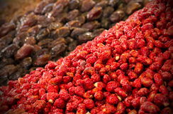 Dried fruits in Morocco Royalty Free Stock Photography