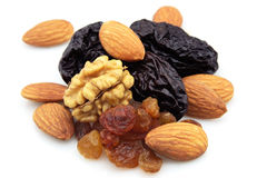 Dried fruits and nuts Stock Image