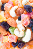 Dried fruits and nuts. Stock Photos