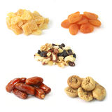 Dried fruits with nuts Stock Images