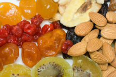 Dried fruits and nuts Royalty Free Stock Image