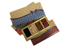 Dried Fruit and Nuts Gift Box Royalty Free Stock Images