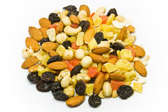 Dried fruits and nuts mix Royalty Free Stock Images