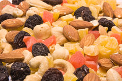 Dried fruits and nuts mix Royalty Free Stock Image