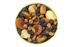 Dried fruits and nuts mix Royalty Free Stock Photos