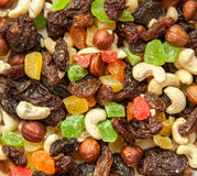 Dried fruits and nuts in soft focus Stock Photo