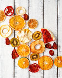 Dried fruits, organic food, dried orange Royalty Free Stock Photos