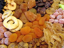 Dried fruits pattern Stock Image