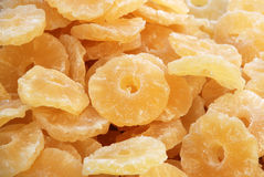 Dried fruits - Pineapple. Background: colourful dried fruits and candied fruits - Pineapple Royalty Free Stock Photography