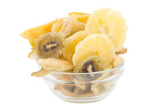 Dried fruits in the plate Royalty Free Stock Photography