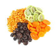 Dried fruits round Stock Images