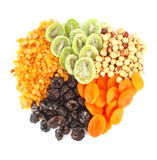 Dried fruits round Royalty Free Stock Image