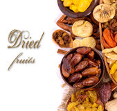 Dried fruits top view with copyspace Stock Photo
