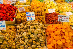 Dried fruits and Turkish Sweets Royalty Free Stock Photo