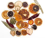 Dried fruits, for winter decoration royalty free stock photo