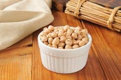Dried garbanzo beans Stock Photo