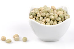 Dried Garden pea (Pisum sativum). Crops that are beneficial to the body Royalty Free Stock Image