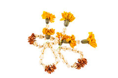 Dried garland flowers Royalty Free Stock Image