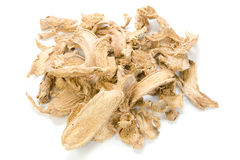 Dried ginger. On white background Stock Photos