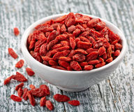 Dried goji berries Royalty Free Stock Image