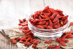 Dried Goji Berries in a bowl Stock Photos